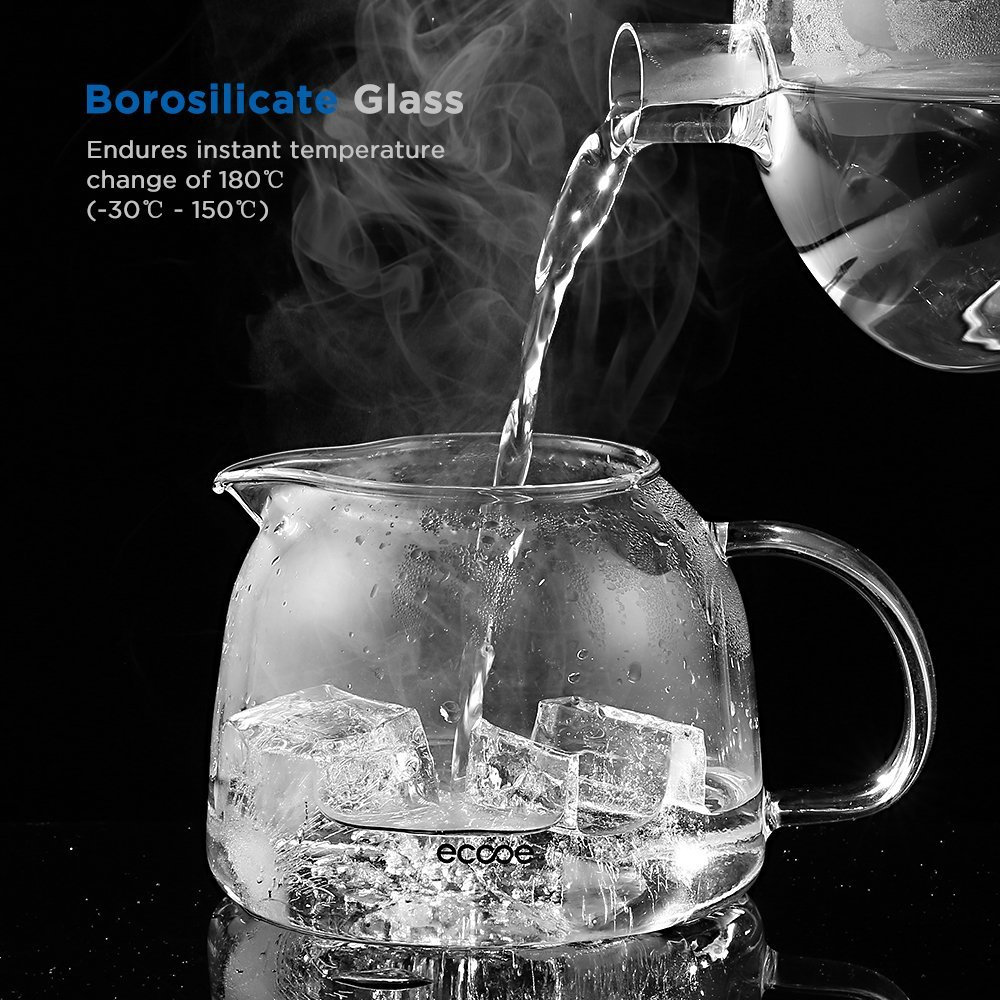 Ecooe 1000ml glass teapot
